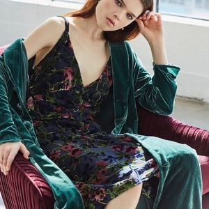 NWT WAYF Sedona crushed velvet floral dress